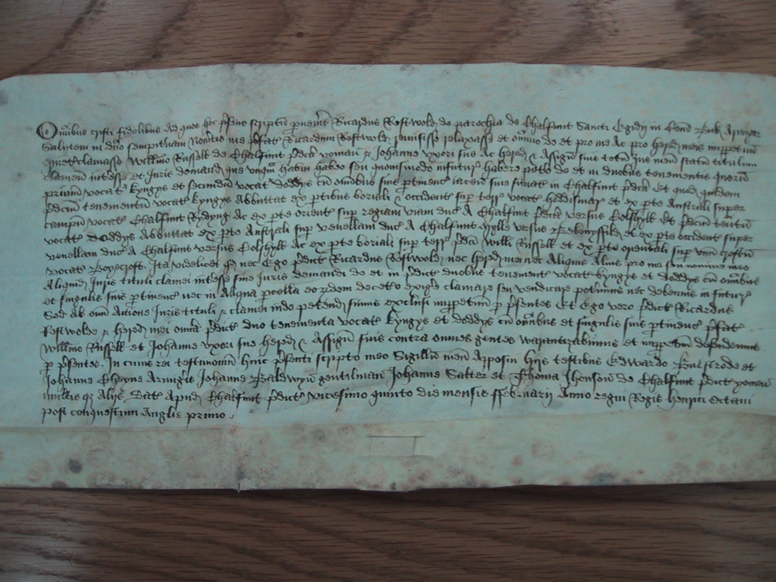 Deed of Doddys 1509